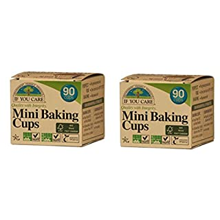 YouCare J25018 mini baking cups, Brown 2 pack