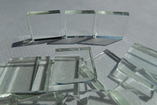 Glass Mosaic Square 1/2 (FortySevenGems 100 Pieces Stained Glass Mosaic Tiles 1/2-Inch Clear Glass)