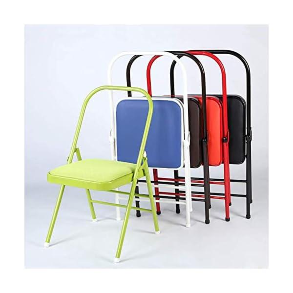 HYRL Chaise Pliante de Yoga, Chaise auxiliaire portative de Yoga Yoga Backless Norme Prop Bureau de réunion Chaise de Formation Chaise de Formation Dossier Pliant Loisirs Chaise,E
