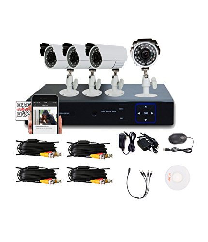 Liview 4CH HDMI 960H Network DVR 700TVL Outdoor Day/Night Security Camera System