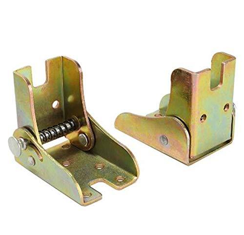 Mesa de extension de bloqueo de bisagra plegable autoblocante de 90 grados y patas de silla Soporte de soporte plegable de acero bisagra oculta, 2PACK, con tornillos de montaje