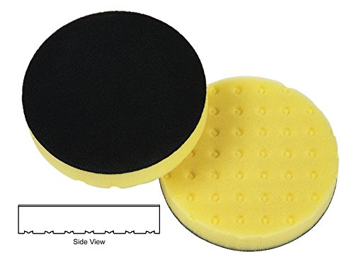 Lake Country 78-54650DA 6-1/2'' x 1-1/4'' CCS - Yellow Foam Cutting Pad (6 Pack) by Lake Country Manufacturing