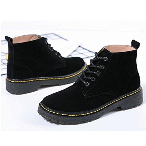 Automne Boots Inconnu Mode Smelle Lacets 39 Martin Loisir Noir Femmes Bottes Épais Hiver Classique Chaussures Z11XwRqxz