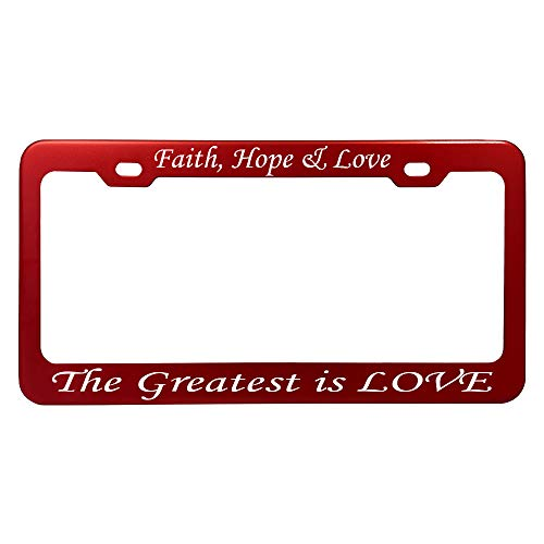 GoPlates Customized Red Anodized Aluminum License Plate Frame Laser Engraved