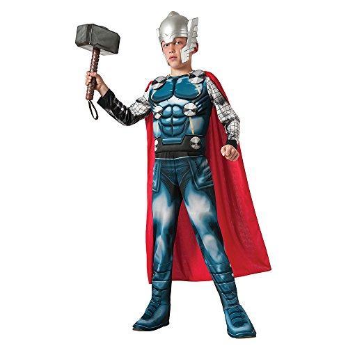 Marvel Universe Avengers Assemble Thor Deluxe Costume, (Thor Costume Kids)
