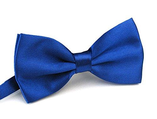 Sunny Ocean Classic Royal Blue Bow Tie for Men Pre Tied Tuxedo Bowtie Royal Blue (Toddler Blue Tuxedo)
