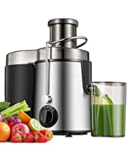 Juicer Extractor, Centrifugal Juicer, Juicer Machine for Fruits & Vegs, Electric Juicer with 3 Speed and Pulse Function, Easy to Clean, Anti-dropp, Included Brush, 400W