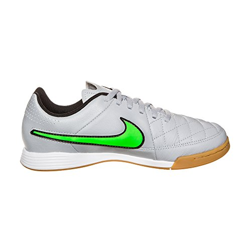 Boots Football Nike black Tiempo Genio Wolf Leather black Grey Grigio Green IC Strike Junior FTgqTXY