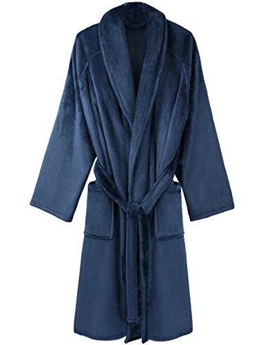 David Archy Men's Super Soft Fleece Robe - Fleece Shawl Robe Shopping Results