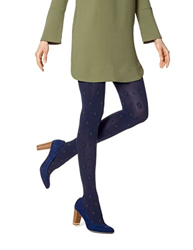 HUE Women's Foulard Tights with Control Top Navy ()