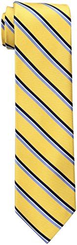 Tommy Hilfiger Men's Stripe Tie, Yellow, One (Yellow Stripe Tie)