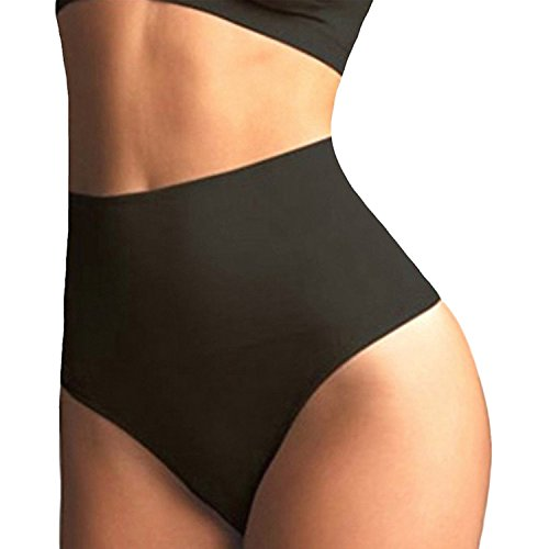 Line Girdle (FIRSTLIKE Women Waist Cincher Girdle Tummy Slimmer Sexy Thong Panty Shapewear, Black, S(Fit Waist 22.5