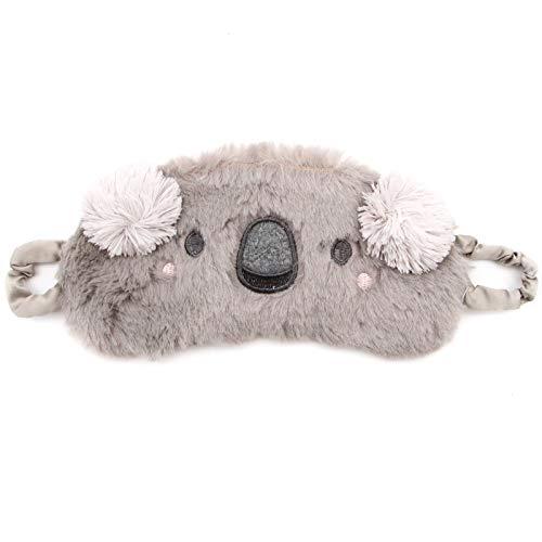 - WSSROGY Cute Koala Soft Plush Sleep Mask Blindfold Eye Cover Adjustable Head Strap for Sleeping