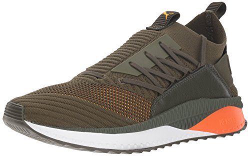 PUMA Men Tsugi Jun Clrshft Sneaker Forest Night-firecracker-spectra Yellow
