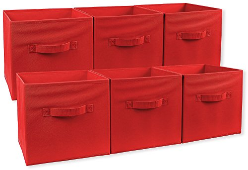 Greenco Foldable Storage Cubes Non-woven Fabric -6 Pack-(...
