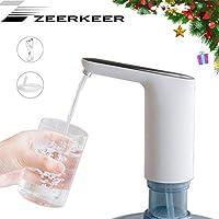 ZEERKEER Dispensador de Agua , Bomba de Agua Automático Portátil , Dispensador de Bomba Distribuidor de Carga USB Potable Eléctrica para el Home、Office、Camping