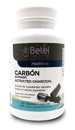 Carbon Activado Capsulas - Activated Charcoal Betel Natural 90 Capsules by Betel Natural