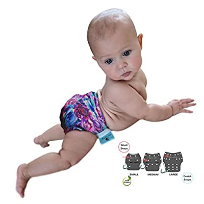 Girls Swim Diapers 2Pack Reusable Premium Stylish- Adjusts to Fit N-5 Baby to Toddler