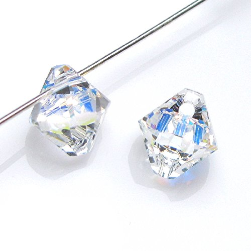 Swarovski Crystal Beads Top Drill - Dreambell 12 pcs Swarovski Elements Crystal 6328 Xilion Top Drill Bicone Bead Charm Pendant Clear Ab 6mm / Findings / Crystallized Element