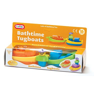 Fun Time – Bathtime Tugboats - Badewannenspielzeug-Set - 1 1 1 Figur + 2 Stiefele 638f94