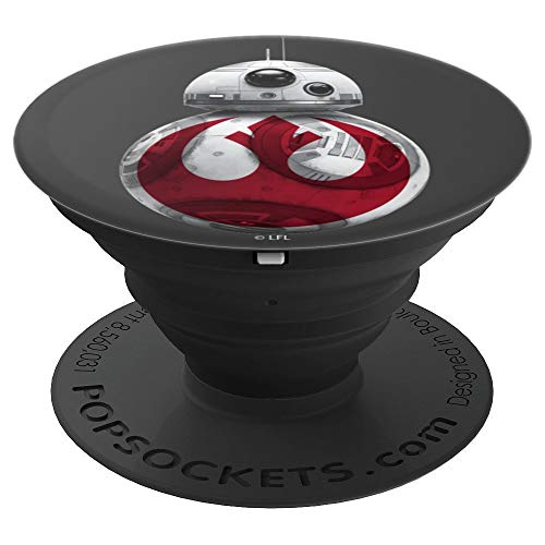 Star Wars Red Rebel Logo On BB8 Portrait - PopSockets Grip and Stand for Phones and Tablets