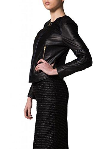 Leather Mujer Negro Junction Para Chaqueta araqwPHF