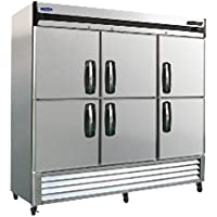 Norlake NLR72-SH AdvantEDGE Three Section Half-Door Reach-In Refrigerator