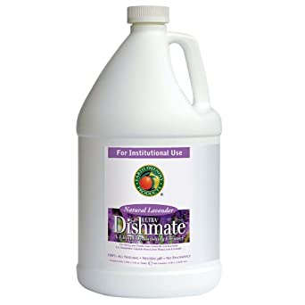 Earth Friendly Products Proline PL9727/04 Dishmate Lavender Ultra-Concentrated Liquid Dishwashing Cleaner, 1 gallon Bottles (Case of 4)