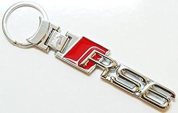 Solid Metal RS6 Llavero Cromado Audi: Amazon.es: Coche y moto
