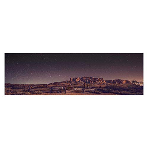 Decor Paper Cling Decals Sticker The Stars on The Distant Peaks Illuminate The Night Sky Wallpaper Sticker Background Decoration L23.6 x H15.7