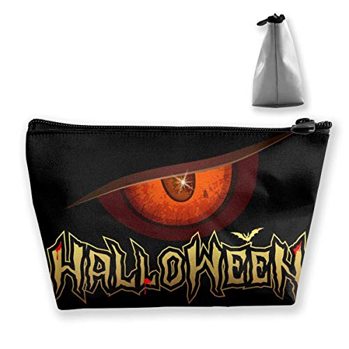 b9e09dc7ae52 Halloween Red Eye Design Waterproof Trapezoidal Bag Cosmetic Bags Makeup  Bag Large Travel Toiletry Pouch Portable Storage Pencil Holders