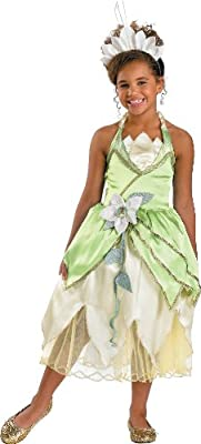 Princess Tiana Deluxe Costume - Medium 7-8 by Disguise