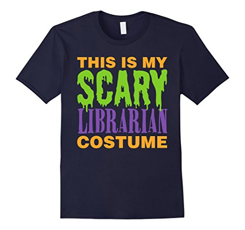 Men's Librarian Scary Halloween Costume T-Shirt Small - Male Librarian Costume
