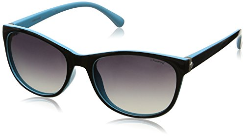 Grey de Shaded Black para Blue P8339 Negro mujer Polaroid Gafas sol Polarized Redondas 5fwx1fPvq