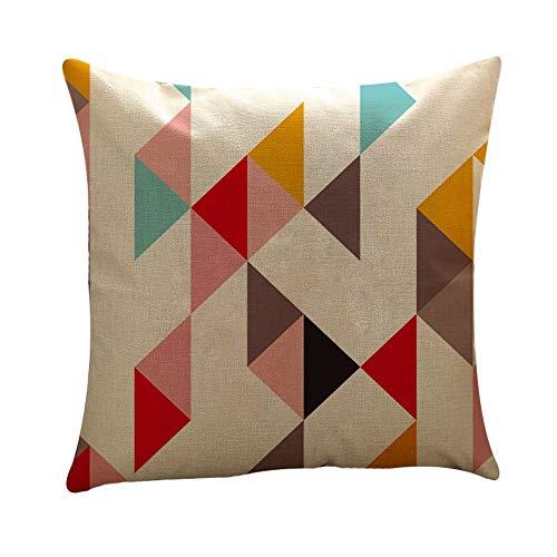 UROSA Home Decor Cushion Cover Geometry Throw Pillowcase Pillow Covers45X45cm