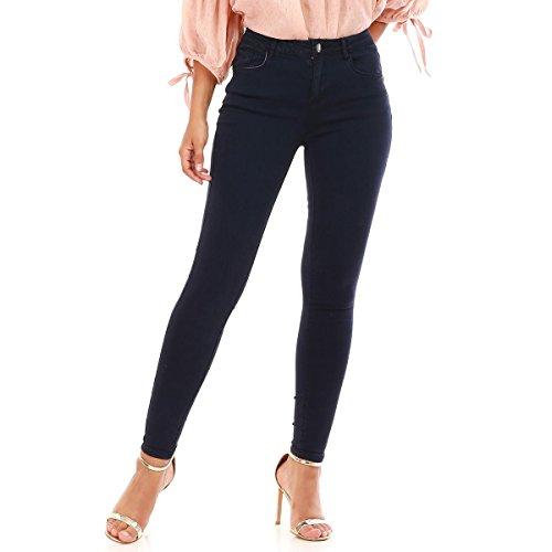 La Modeuse - Jeans Coupe Skinny Classique Bleu Marine