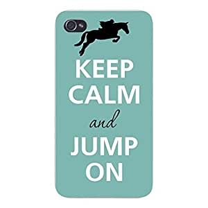 @ALL Keep Calm and Jump On Cover Case For Iphone 5 and 5S(Black) with Best Silicon Rubber by ruishername