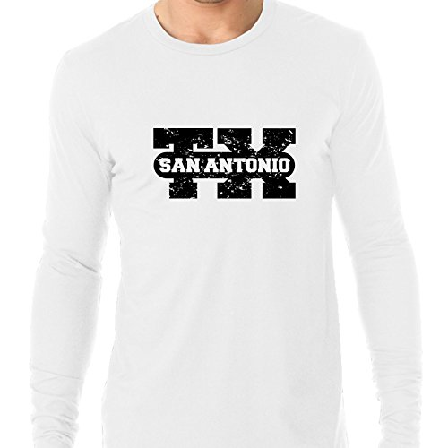 San Antonio, Texas TX Classic City State Sign Men's Long Sleeve T-Shirt -