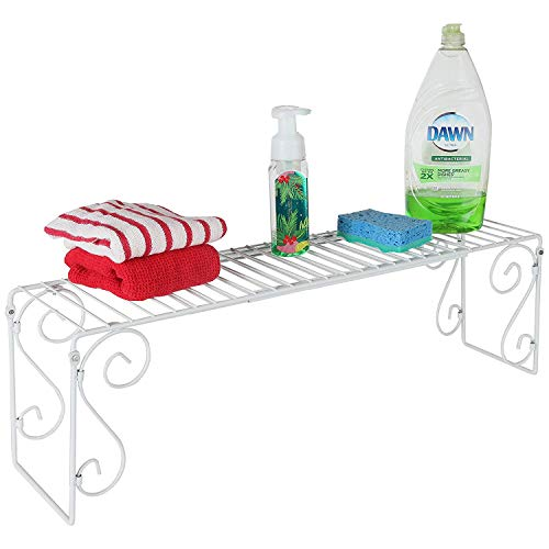 Old Home Kitchen Expandable Over Sink Shelf - White (Organizer Bathroom The Sink Over)