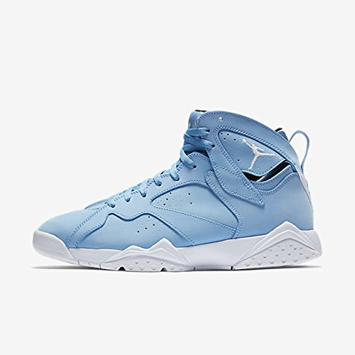 Jordan Men Air Jordan VII Retro university blue white-white-black Size 12.0 US - Blue And White Retro Jordans