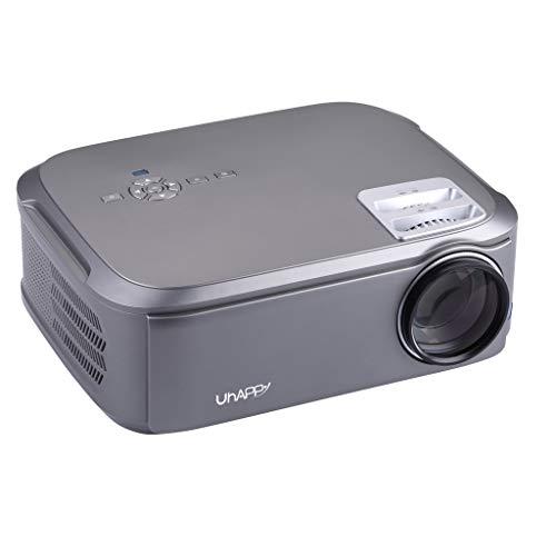 Beamer Full HD 1920×1080 Pixel, LED Video Projektor unterstützt mit HDMI / VGA / Y.Pb.Pr/ AV / USB für Office Powerpoint…