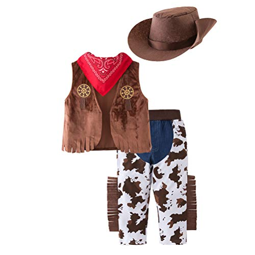 Western Baby Halloween Costumes (May's Baby Western Cowboy Style Kids Costume Set Cosplay)