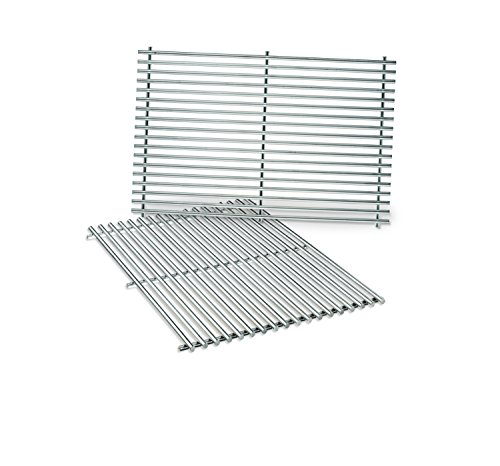 Weber 7528 Stainless Steel Cooking Grates (19.5 x 12.9 x 0.6) (Set Weber Grates Cooking)