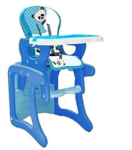 Trona para bebé convertible en mesa y silla, modelo panda azul. Trona o silla para niños