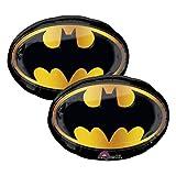 Set of 2 Batman Emblem Jumbo 30' Foil Party Balloons