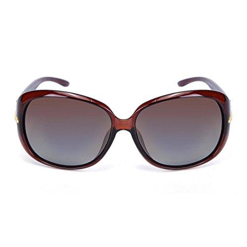 OYMI - Lunette de soleil - Femme Wine Red Frame Brown Lens