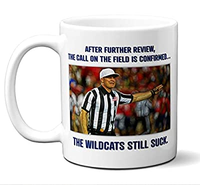 "Kentucky Wildcats Suck Mug.""After Further Review."" Coffee Mug, Tea Cup. I Hate The Kentucky Wildcats. Funny Gift For"