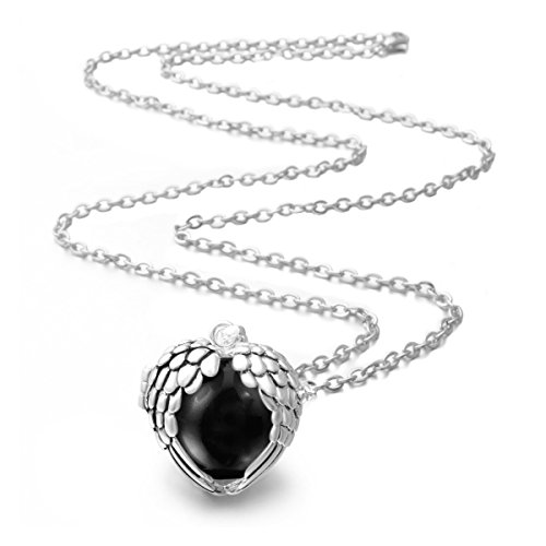 Ball Chain Necklace 18mm (EUDORA Harmony Bola Necklace Angel Wing 18mm Music Chime Ball Cage Pendant - 30
