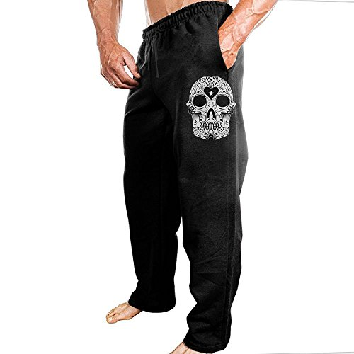 Skull Head Men's Sweatpants With Pockets Cotton Pant (Skull Sweatpants)