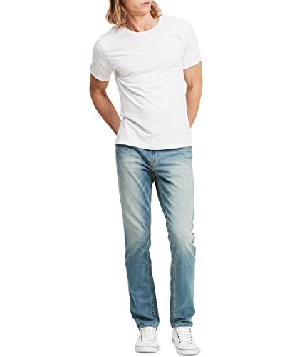 Calvin Klein Jeans Men's,Slim Straight Fit Denim Jean,Silver Bullet,32W 32L